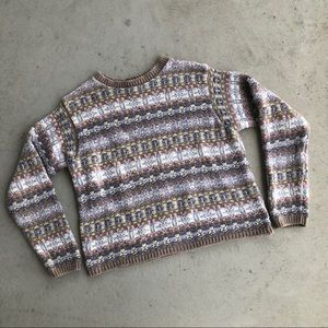 -Vintage- L.L. Bean Pastel Nordic Cotton Sweater
